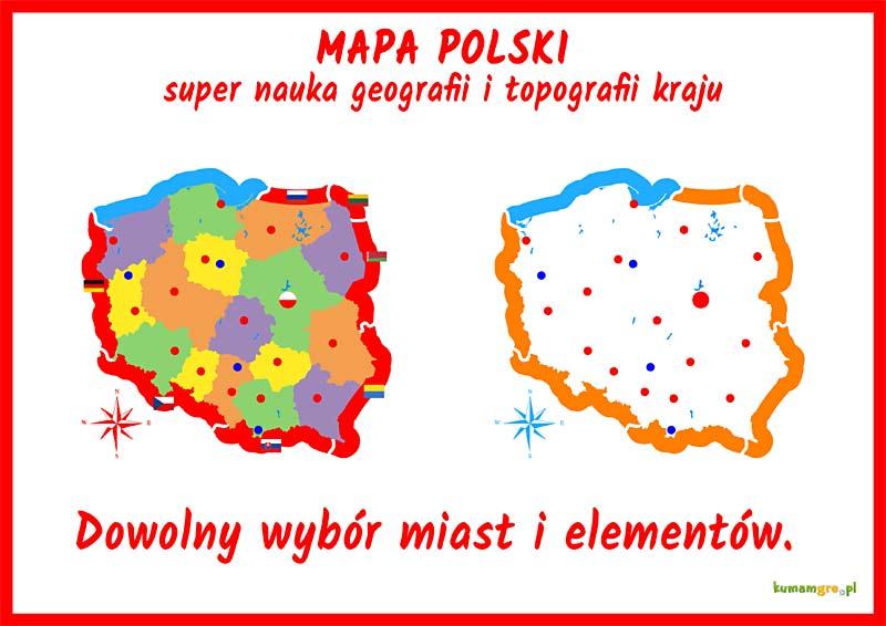 Mapa Polski - KumamGre.pl